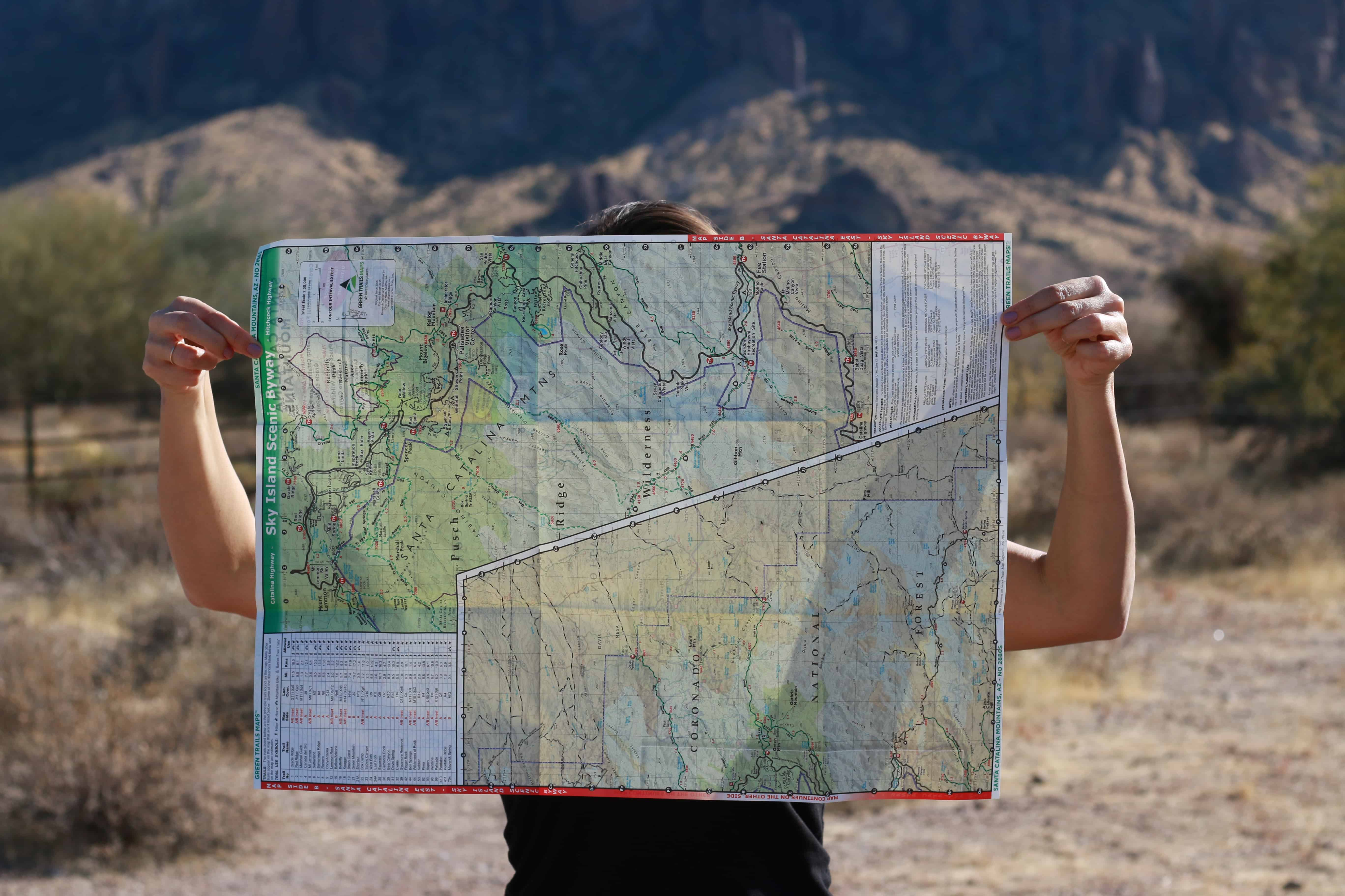 Lady holding a map